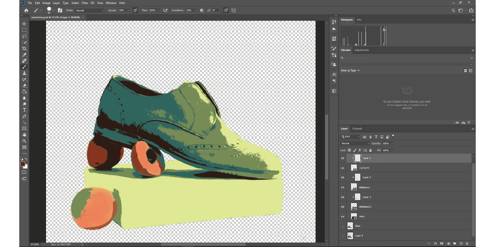 How To Vectorize A Color Image In Photoshop project done