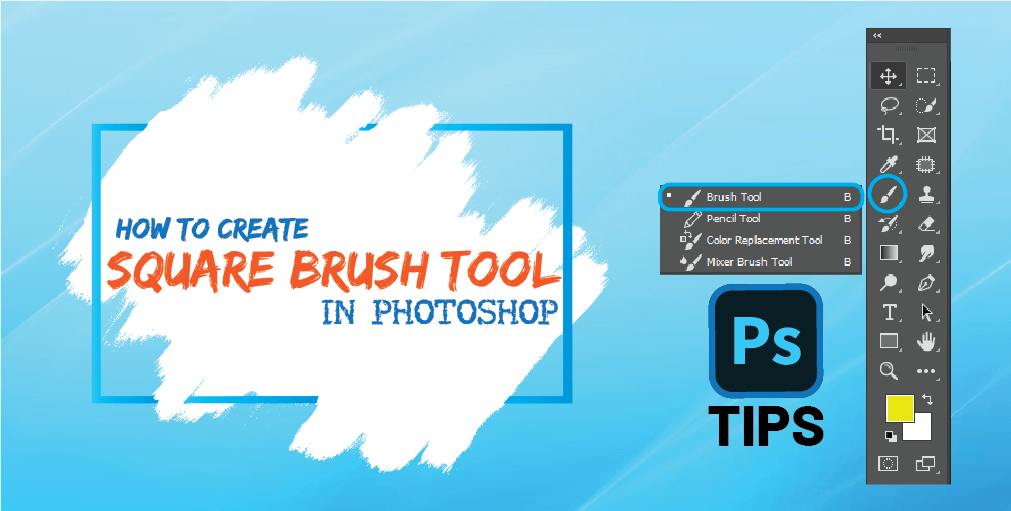How to make a square brush in photoshop