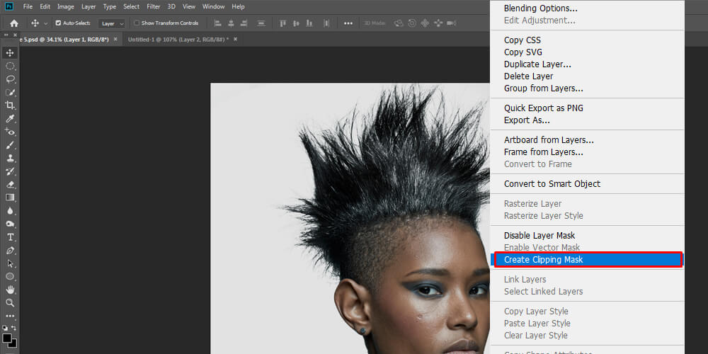 Image showing clipping mask